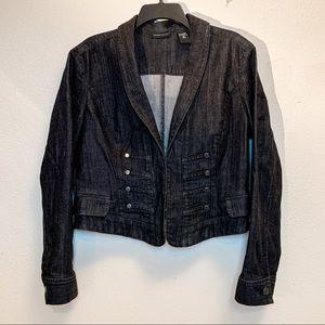 New York & Company Black Denim Blazer